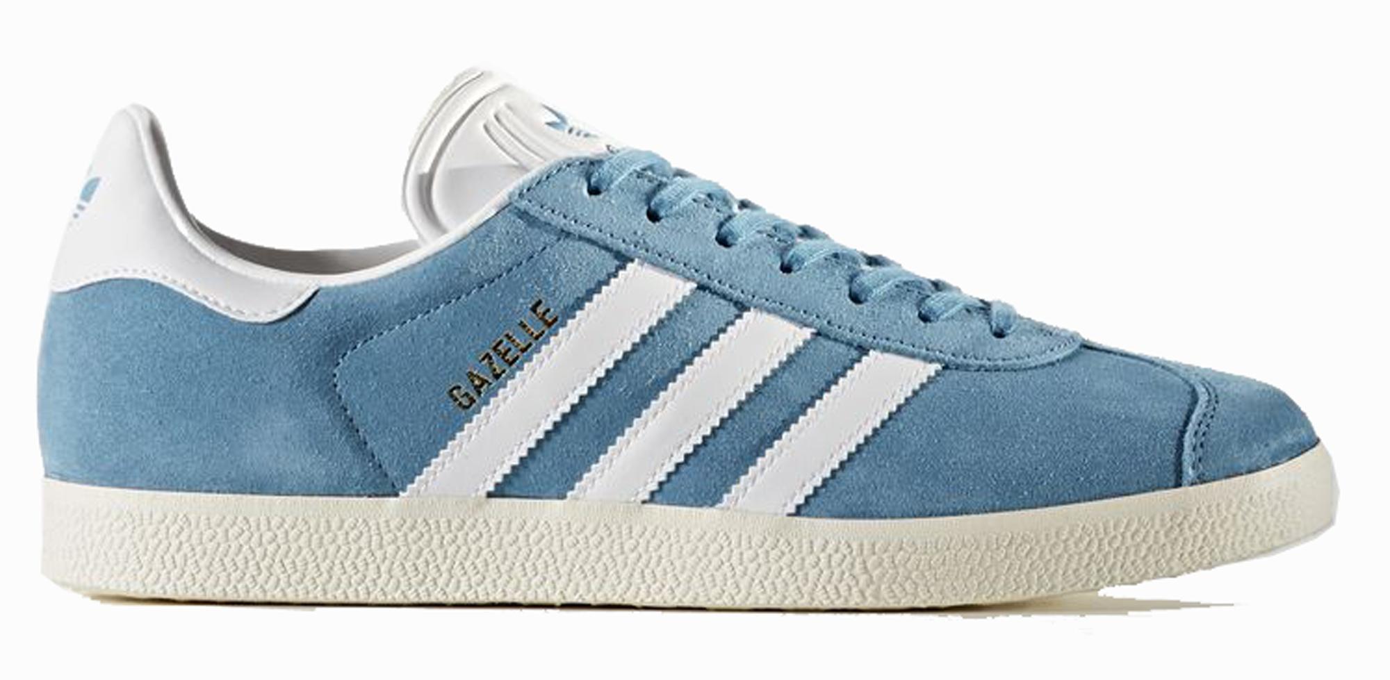 best sneakers 17e16 5e736 Sneakers Adidas Gazelle BZ0022 scarpe donna in camoscio azzuro