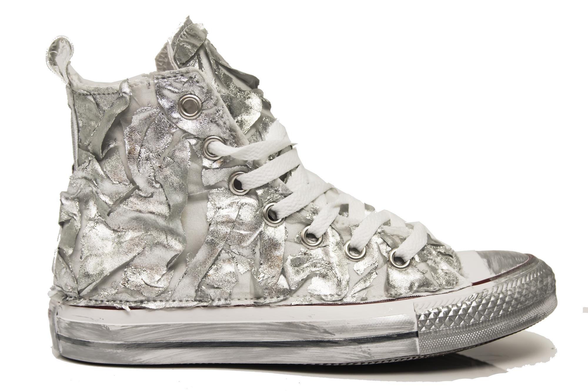 Sneakers Converse All Star Hi CRAC1 scarpe personalizzate in tessuto craccato ar