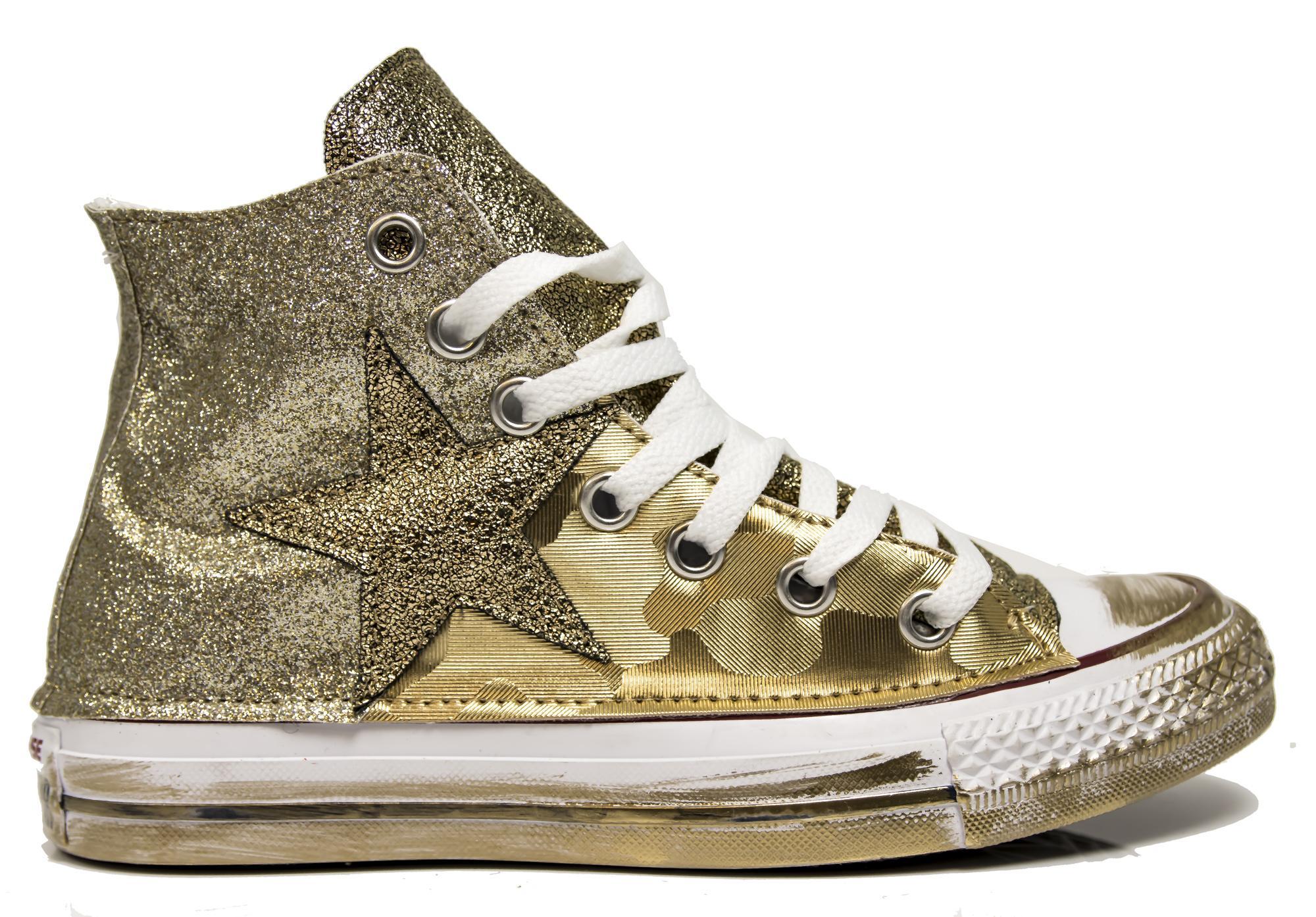 scarpe converse oro