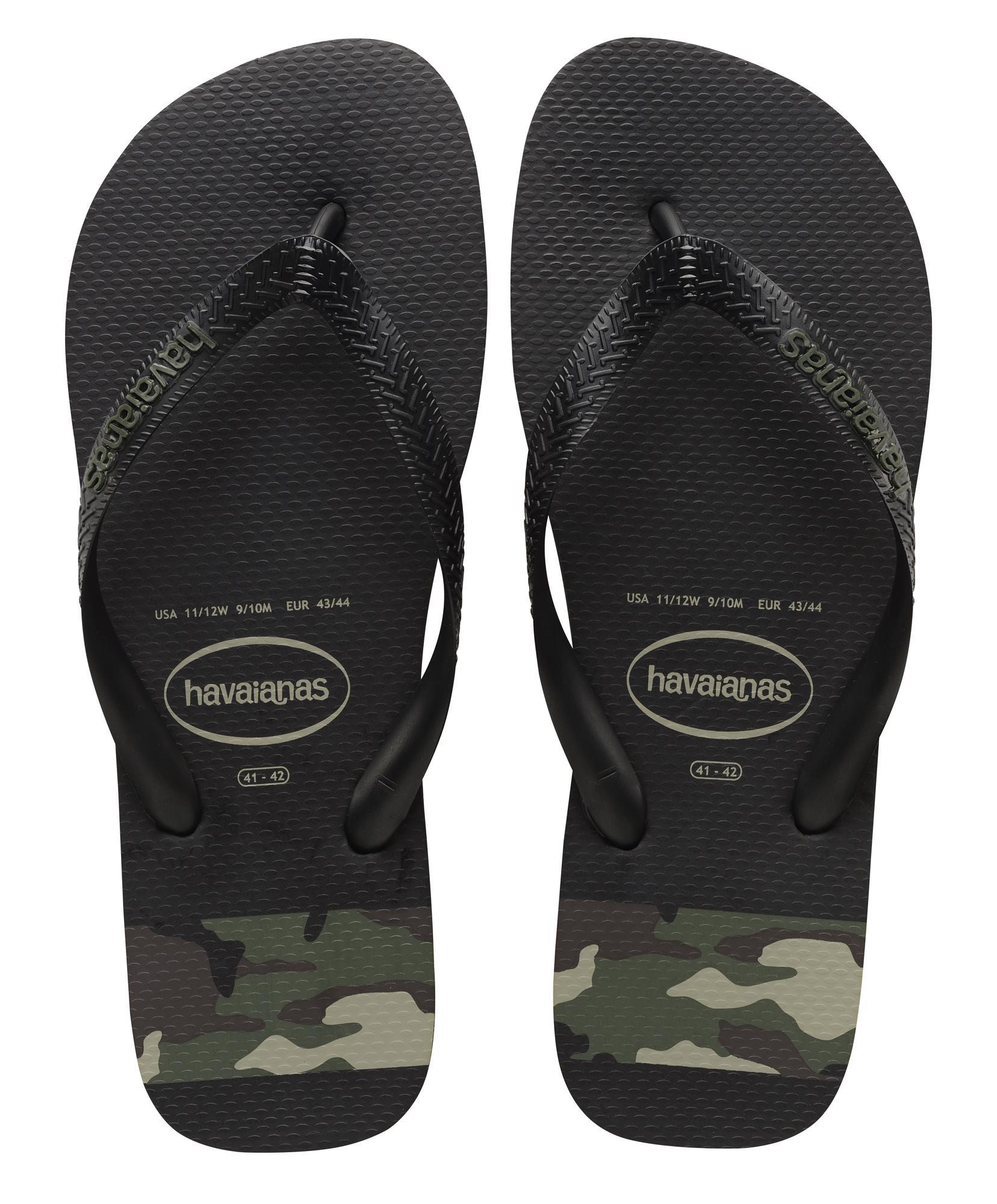Infradito Havaianas Top Stripes Logo sandali uomo nero/verde camouflage camouflage nero/verde 41325850 e89928