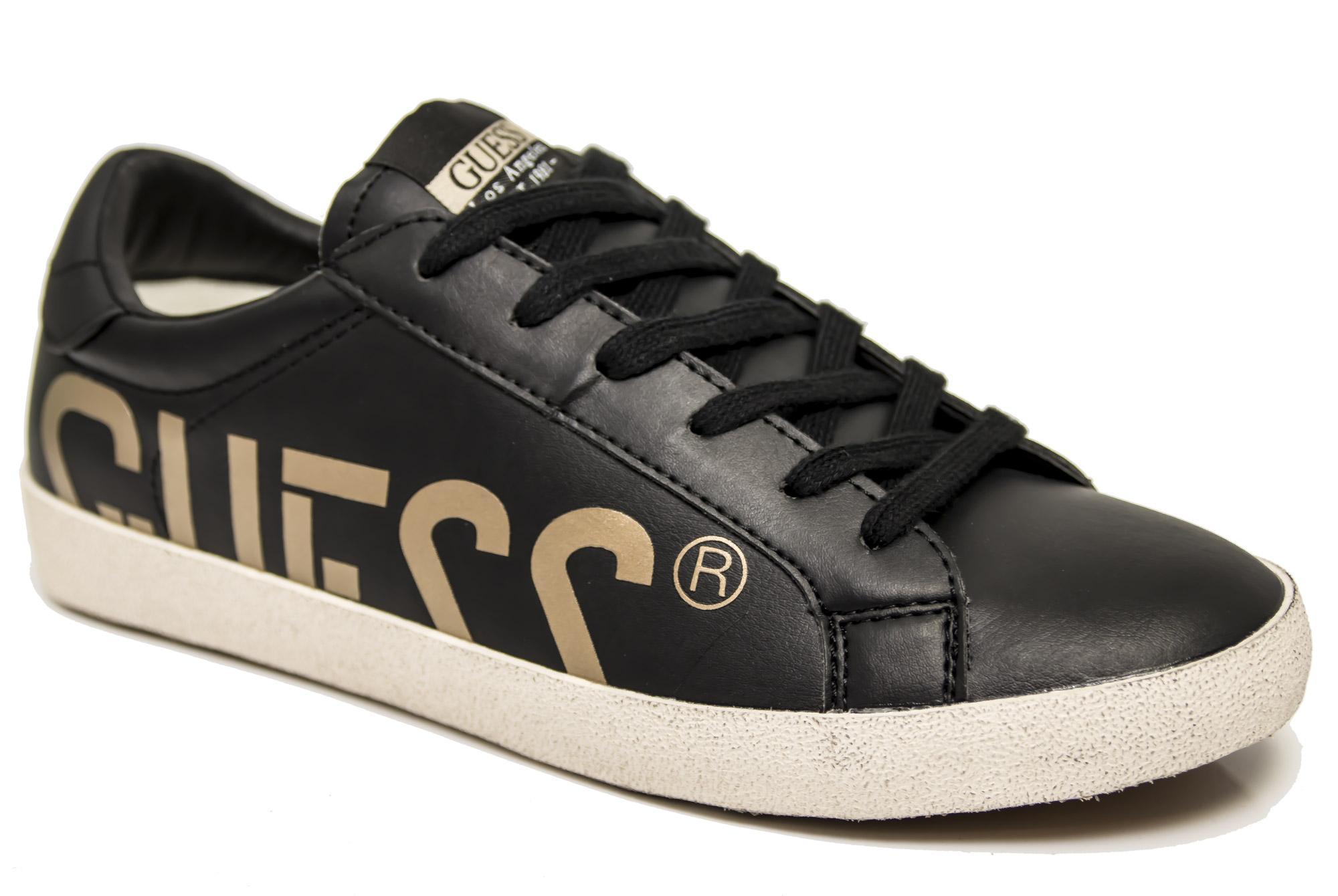 aspetto dettagliato migliore online nuova versione Détails sur Sneaker Guess FMRYN4-ESU12 scarpe uomo nero logo