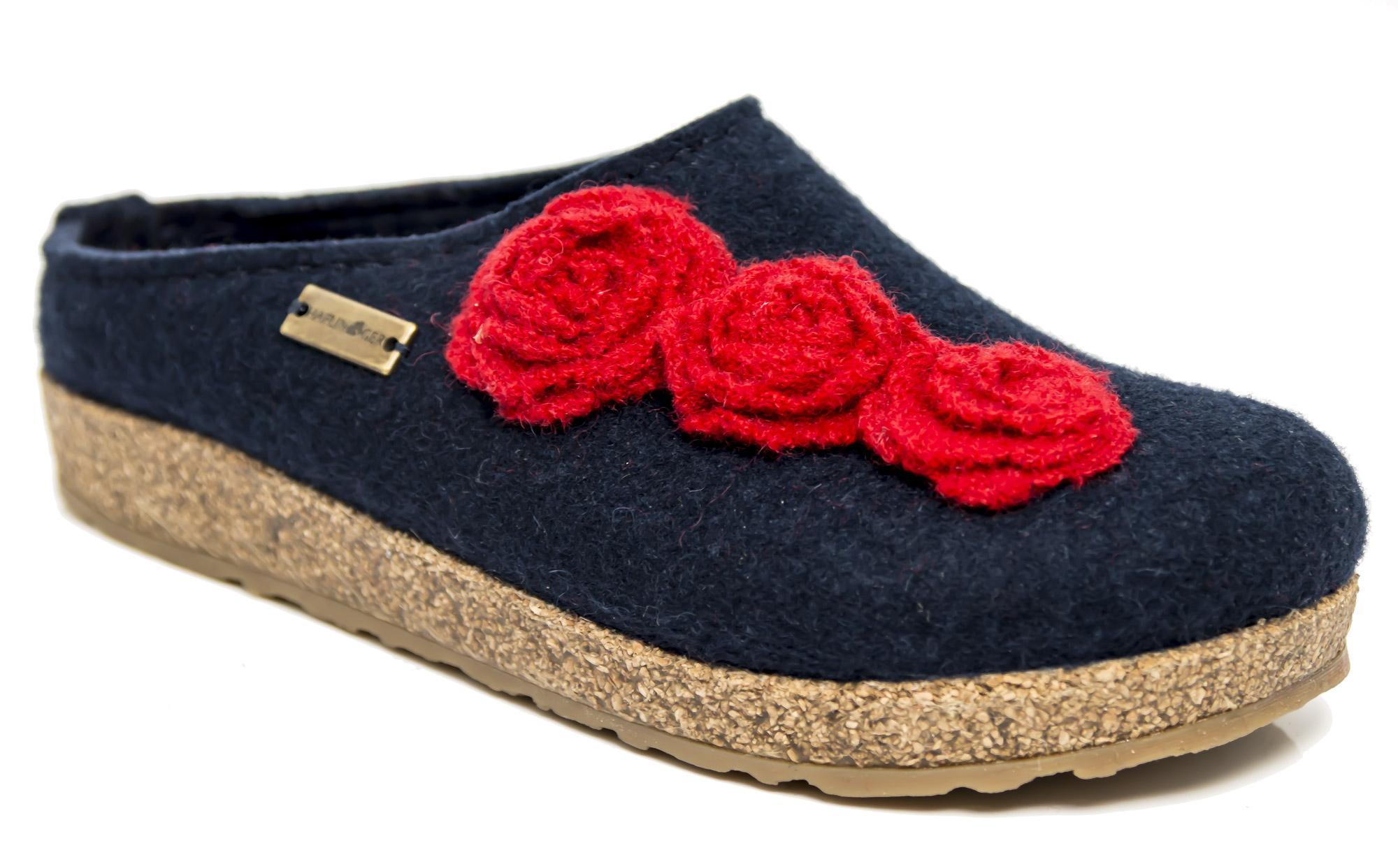 In 36 Pantofole Lana Rosalia Grizzly Blu Haflinger 73107207 Feltro qrg8rwUX7