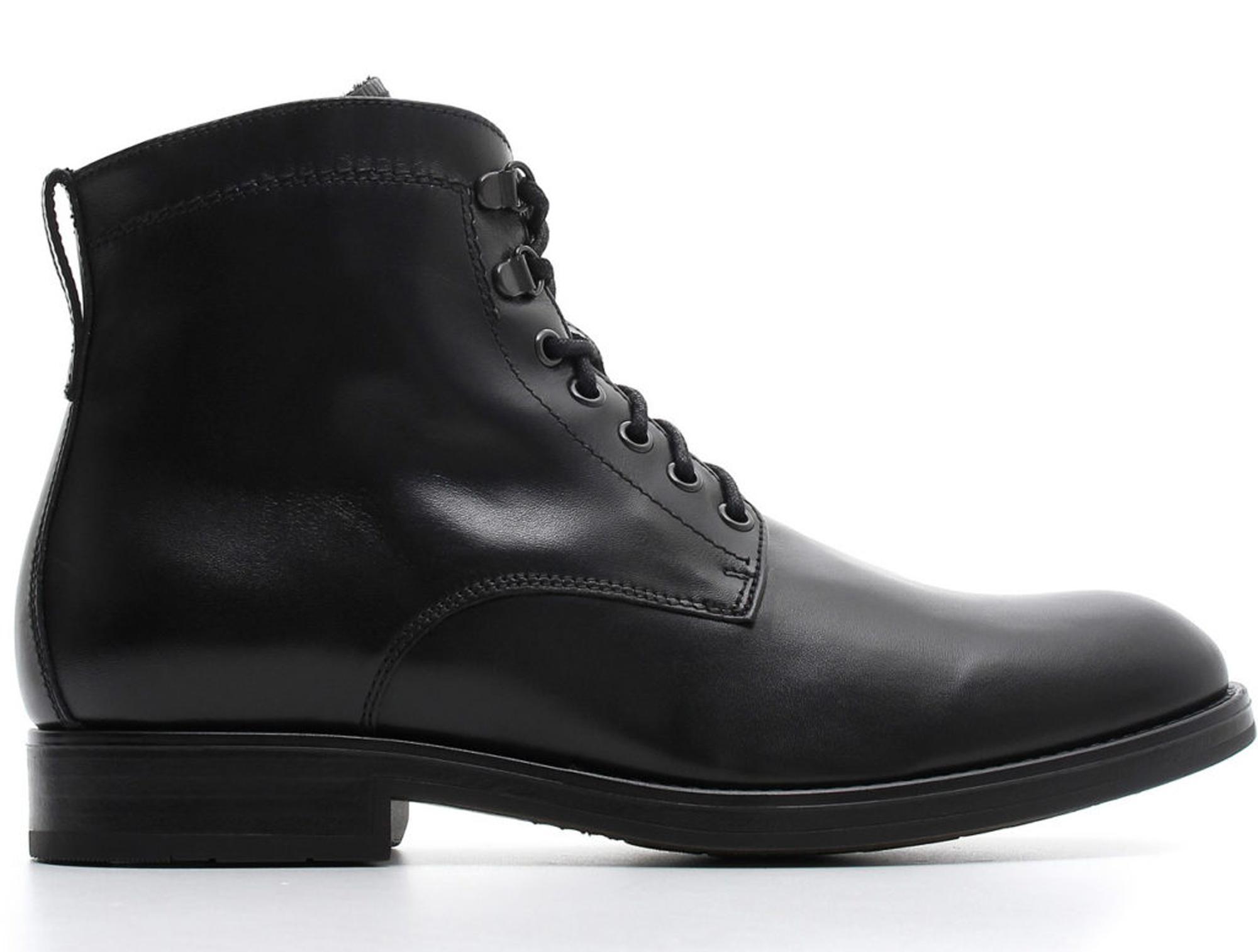 Polacchini NeroGiardini A800533-100 0533 scarpe uomo in pelle nera ... 14be64c2afe