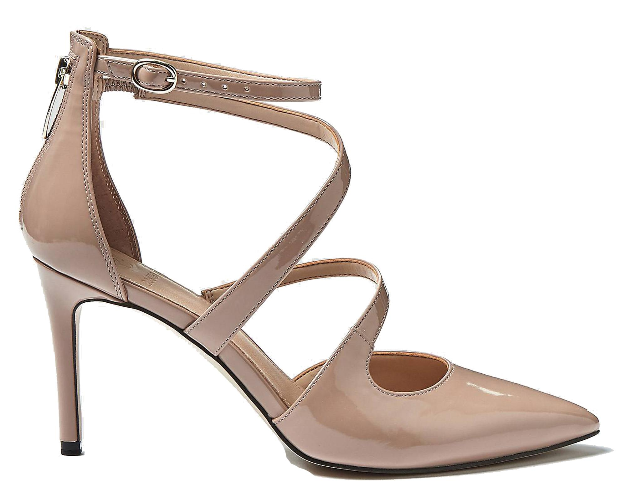 Dettagli su Decoltè Guess FL5BAK PAF08 scarpe donna eleganti rosa nudo