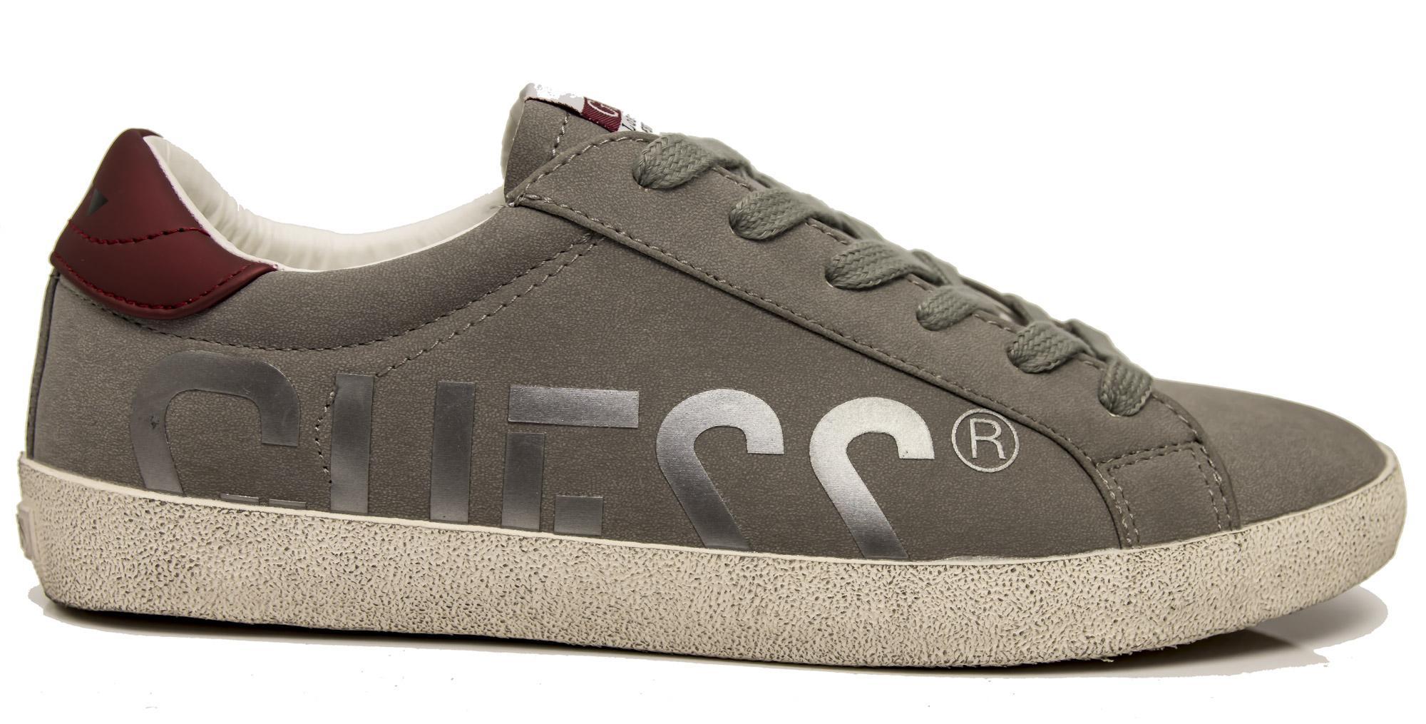 Sneaker Guess FMRYN4-ESU12 scarpe uomo grigio logo  22e65dc9124