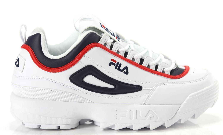 Dettagli su Sneakers FILA Distruptor CB Low scarpe uomo bianche