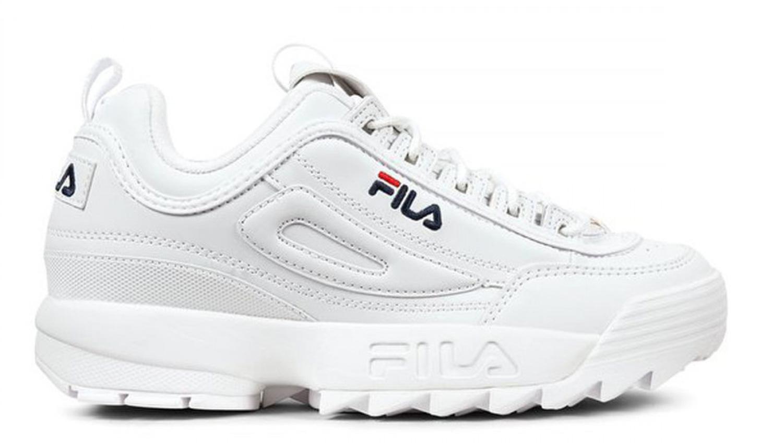 Détails sur Sneakers FILA Distruptor Low scarpe uomo bianche