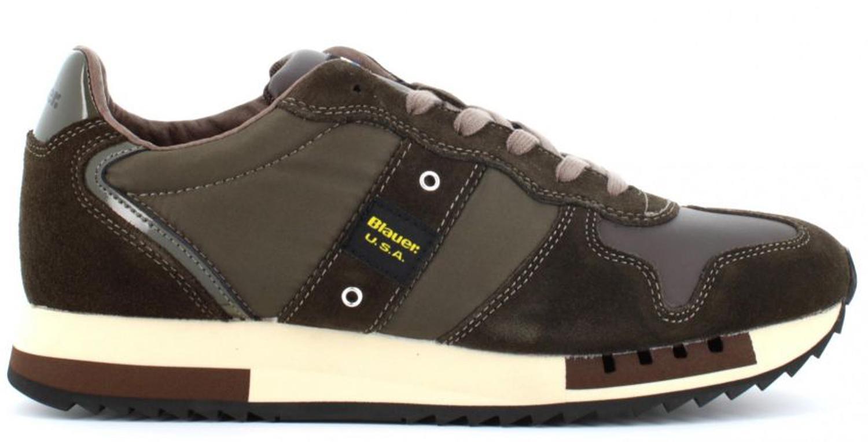 Dettagli su Sneaker Blauer 9FQUEENS01 scarpe uomo marrone