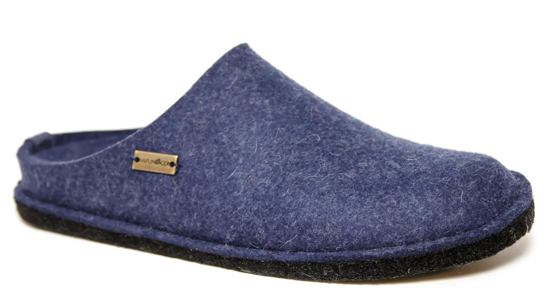 newest efcc9 0531c Dettagli su Pantofole HAFLINGER Soft 31101072 Blu Jeans in feltro lana